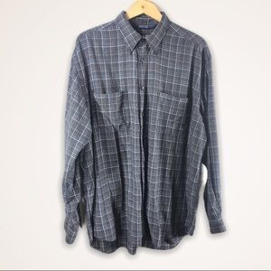 • NAUTICA Long Sleeve Button Front Plaid Casual XL